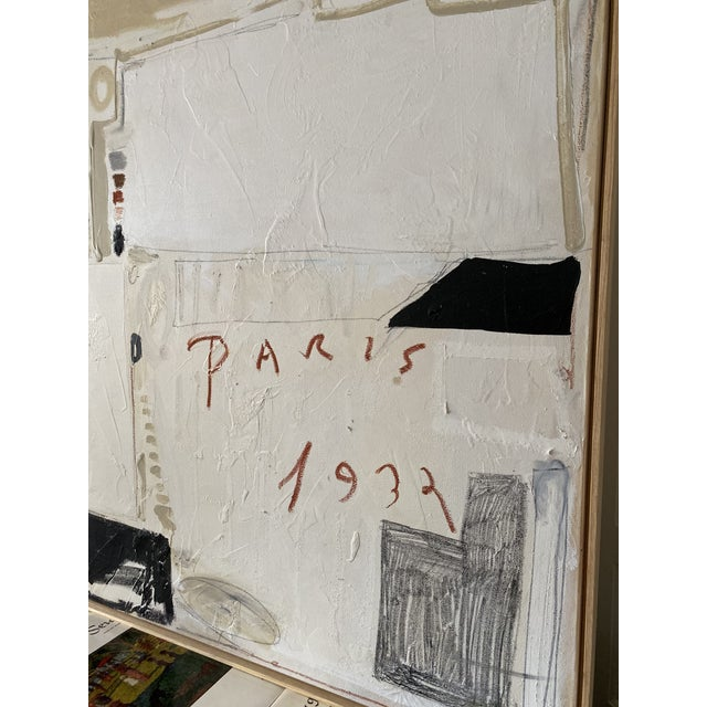 """Abstract Josh Young Design House """"Paris, 1932"""" Framed Painting For Sale - Image 3 of 6"""