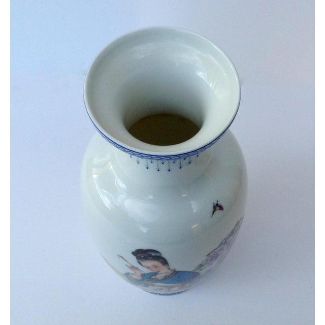 Asian Style Vintage Japanese Porcelain Kutani Ceremonial Greek Key Vessel, Vase For Sale - Image 4 of 11