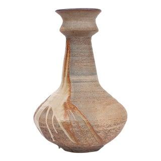 20th Century Ceramic Vase With Glaze Splatter For Sale