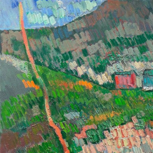 1950s Johannes Carstensen Landscape With Village For Sale - Image 5 of 11