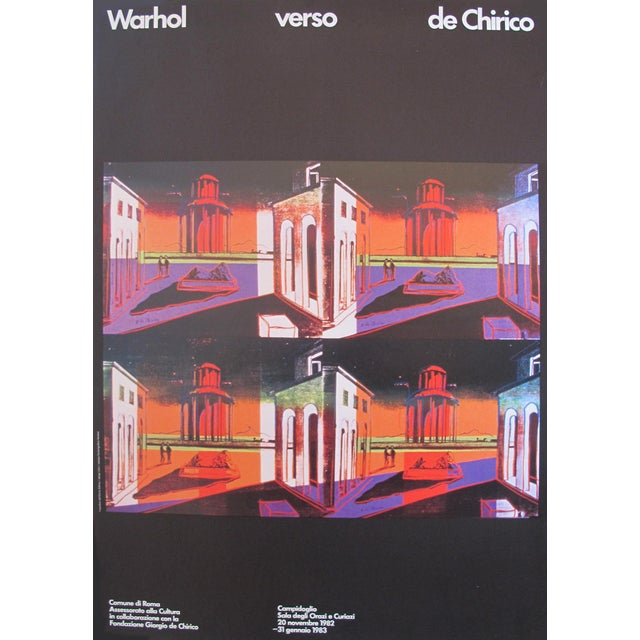 1982 Andy Warhol verso de Chirico Original Exhibition Poster   Chairish