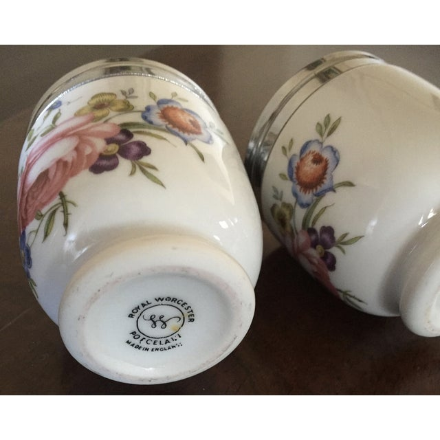 Vintage Royal Worcester Egg Coddlers - Pair - Image 4 of 5