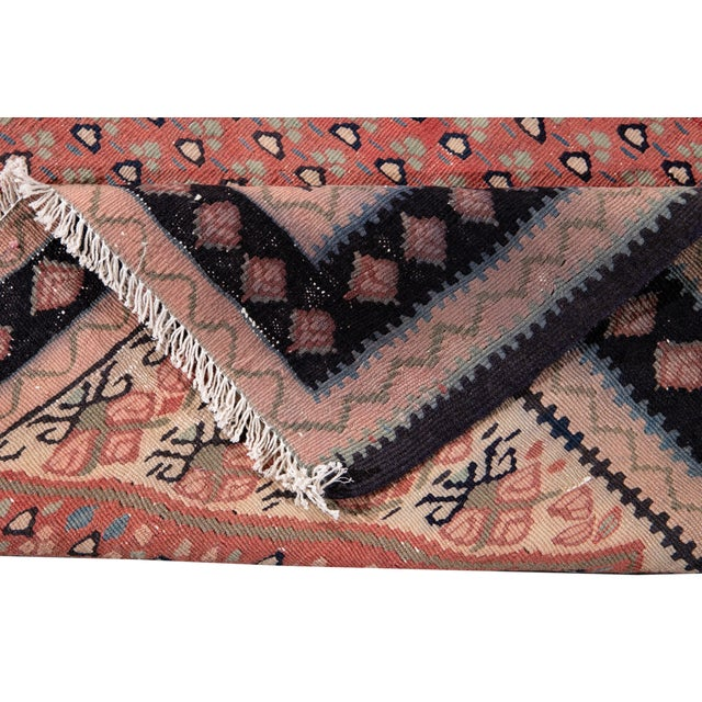 """Traditional Mid-20th Century Vintage Kilim Rug 4' 5"""" X 10' 11''. For Sale - Image 3 of 13"""