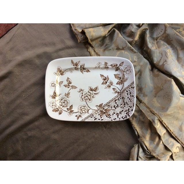 Ceramic Antique Large Staffordshire Transfer Ware Platter For Sale - Image 7 of 10