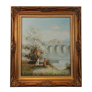 Impressionist Landscape Oil on Canvas Painting by Pierre Du Bois For Sale
