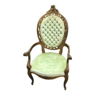 Early 20th Century Vintage French Bergere Chair For Sale