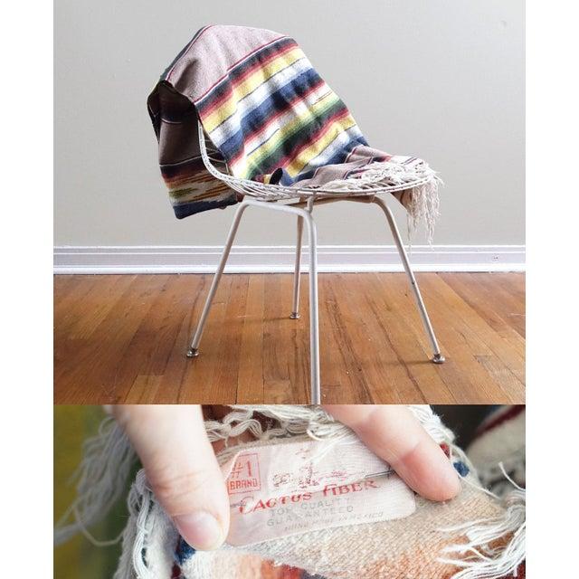 Vintage Mexican Saltillo Blanket - Image 6 of 6