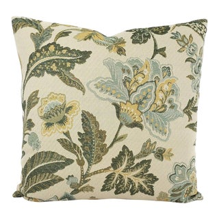 Jf Fabrics Delta in Spa With Orlando in Soft Ivy Pillow Cover For Sale