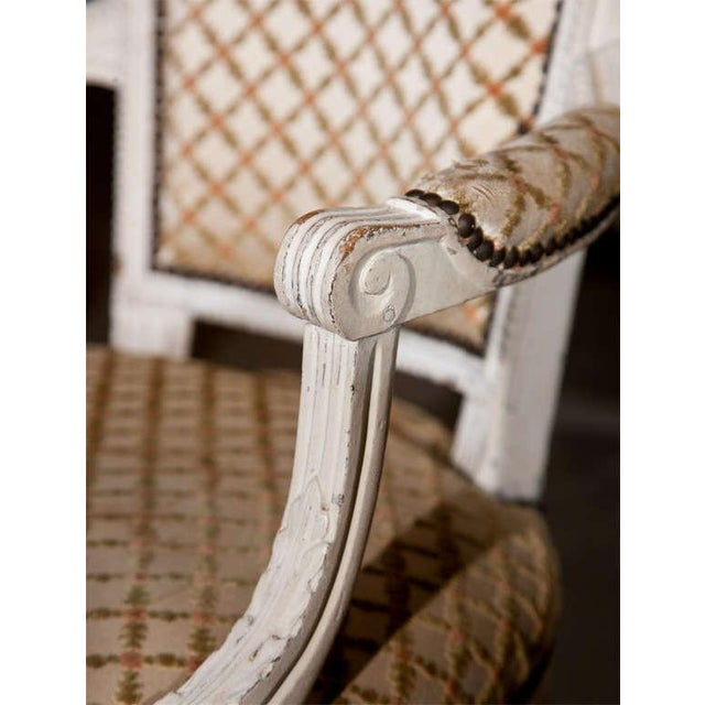 French French Louis XIV Style Arm Chairs - Pair For Sale - Image 3 of 8