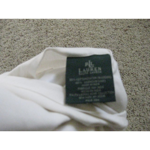 Early 21st Century Ralph Lauren Home White Pillow For Sale - Image 5 of 6