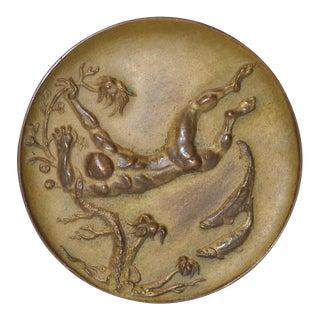 Frank Eliscu Bronze Seascape c.1964 For Sale