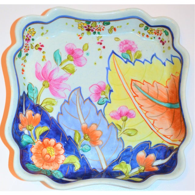 1970s Chinoiserie Tobacco Leaf Trinket Tray For Sale In Houston - Image 6 of 6