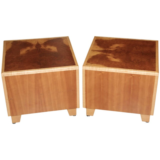 """1990s Vintage Joseph Kelly Custom Made """"Rorshach Bunching"""" Tables- A Pair For Sale"""
