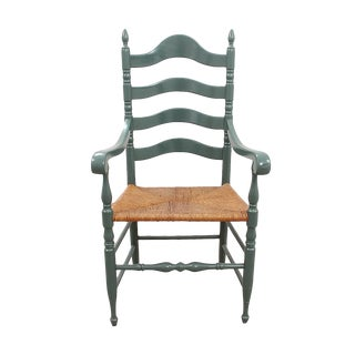 1970s Vintage Ladderback Chair For Sale