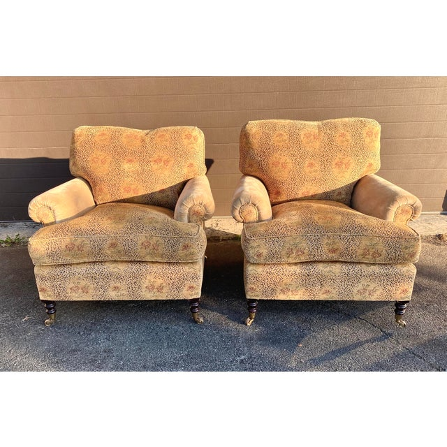 George Smith Short Scroll Arm Chairs - a Pair For Sale - Image 12 of 12