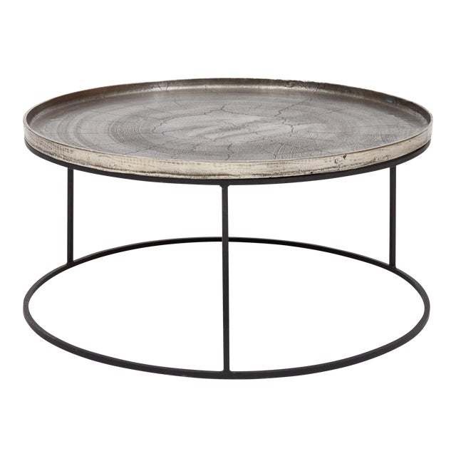 Sana Coffee Table in Silver For Sale