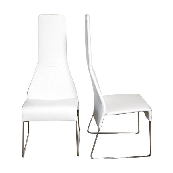 B&B Italia Lazy 05 High Back Dining Chairs - Pair - Image 1 of 4