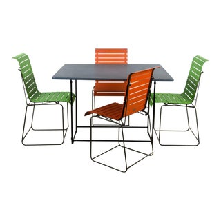 Fermob Italian Mid-Century Modern Patio Dining Set For Sale