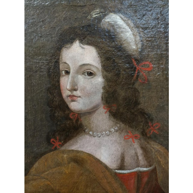 17th century Old Master-Portrait of a Elegant Woman- Oil painting For Sale - Image 4 of 10