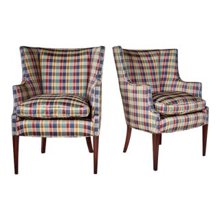 Hepplewhite Wingback Chairs, Pair For Sale