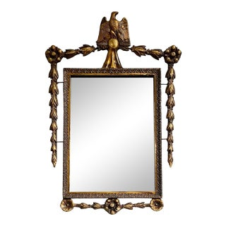 Early 20th Century Petite Giltwood Federal Style Mirror For Sale