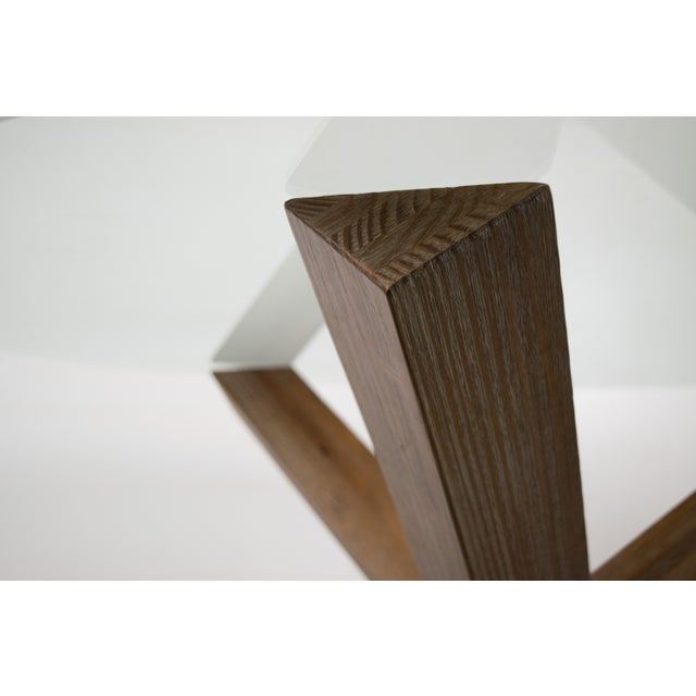 Sculptural Cerused White Oak Dining Table Attributed to Ralph Lauren - Image 5 of 11