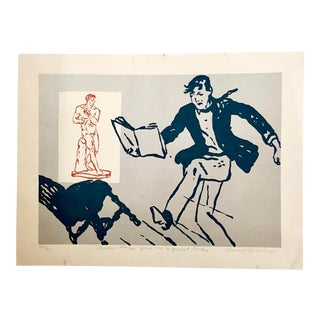 1990s David Bromley Pop Art Inspired Classical Heroes Screen Print For Sale