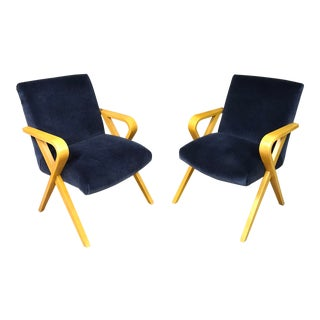 1940s Vintage Thonet Bentwood Armchairs - a Pair For Sale