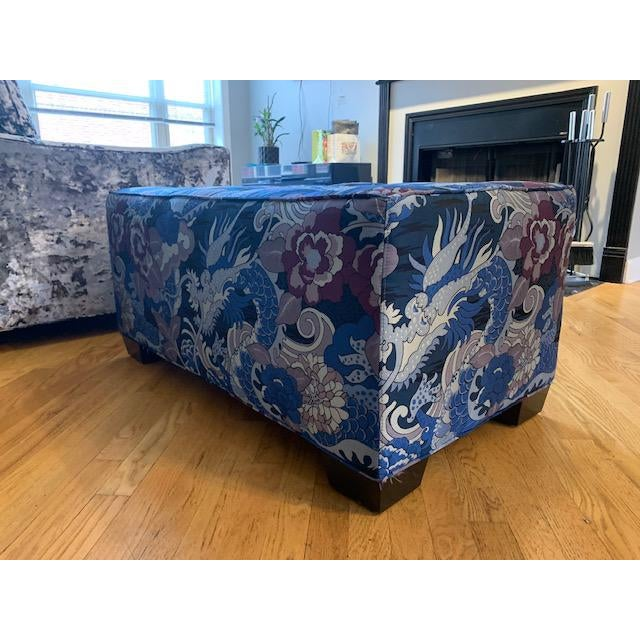 This beautiful and one of a kind bench is a true show stopper. Upholstered in Beacon Hill's Italian Mizuchi fabric it's...