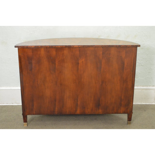 Theodore Alexander Flame Mahogany Regency Style Demilune Curio Base Commode Console - Image 4 of 10