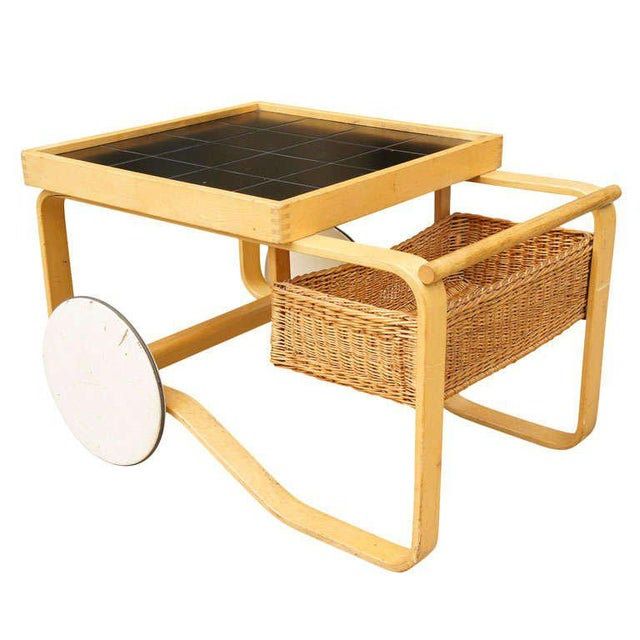 Ash Alvar Aalto for Artek Bar Cart For Sale - Image 7 of 7