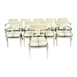 Michael Taylor White Wash Chairs - Set of 10