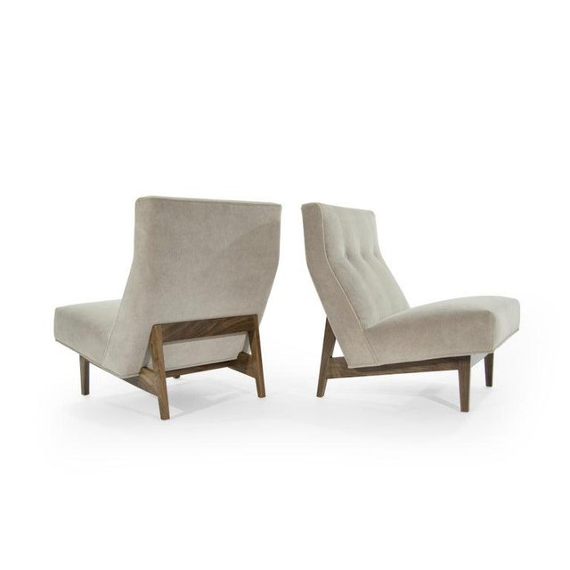 Classic Slipper Chairs by Jens Risom C. 1950s - a Pair For Sale In New York - Image 6 of 12
