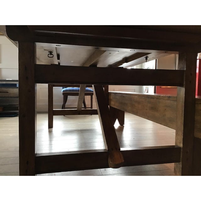 Country Pottery Barn Dining Table with Bench For Sale - Image 10 of 11