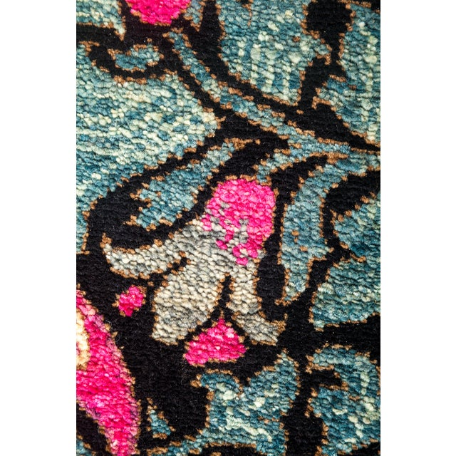 """Eclectic Hand Knotted Area Rug - 4' 2"""" X 6' 3"""" - Image 3 of 4"""