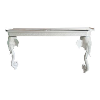 Gampel-Stoll White Elephant Console Table