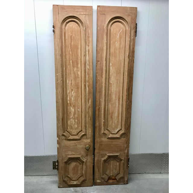 19th Century Antique Victorian Pine Doors-a Pair For Sale - Image 13 of 13