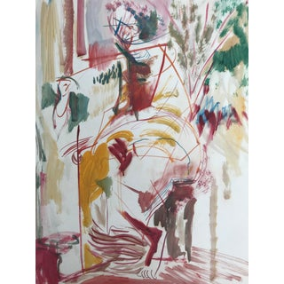 1950s Mid Century Modern Figure Study by Robert Colborne For Sale