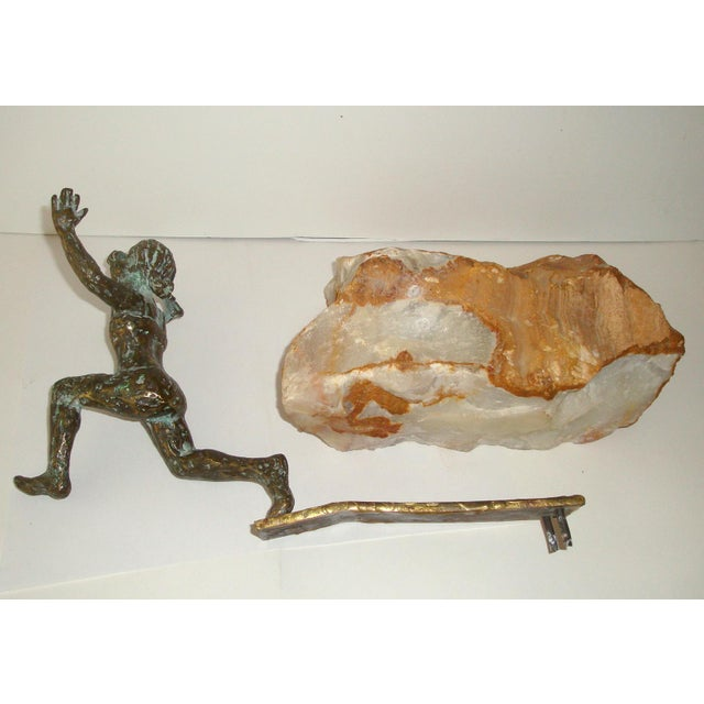 Bronze Swimmer Sculpture by C. Jere For Sale - Image 9 of 10
