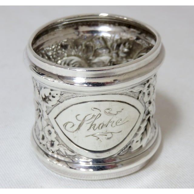 Antique Gorham Sterling Silver Napkin Ring For Sale In Boston - Image 6 of 6