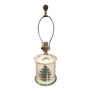 Vintage Spode Christmas Tree Table Lamp For Sale