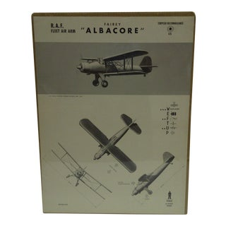 """Vintage """"Albacore"""" Wwii Aircraft Recognition Poster Circa 1942"""