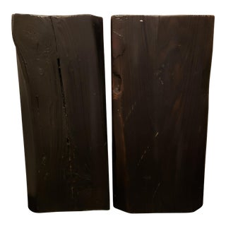 Pair of Black Pedestals For Sale