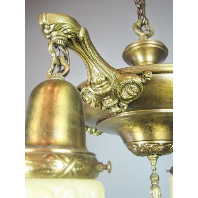 Embossed Original Pan Light Fixture (4-Light) - Image 4 of 9