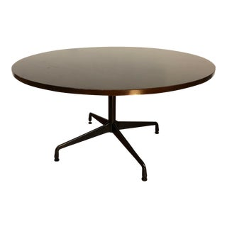 Ray and Charles Eames Circular Mahogany Dining Table by Herman Miller For Sale