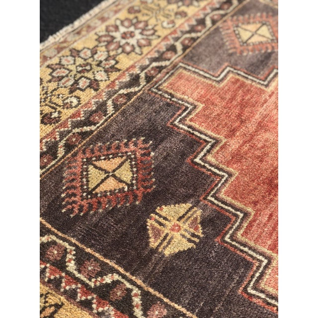 "Antique Turkish Oushak Runner - 5'1"" x 11'5"" - Image 12 of 12"