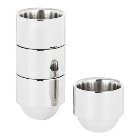 Tom Dixon Brew Espresso Cups Stainless Steel For Sale