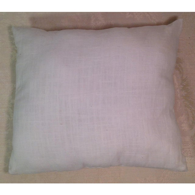Mid-Century Modern Hand Embroidered Pillow - Image 5 of 5