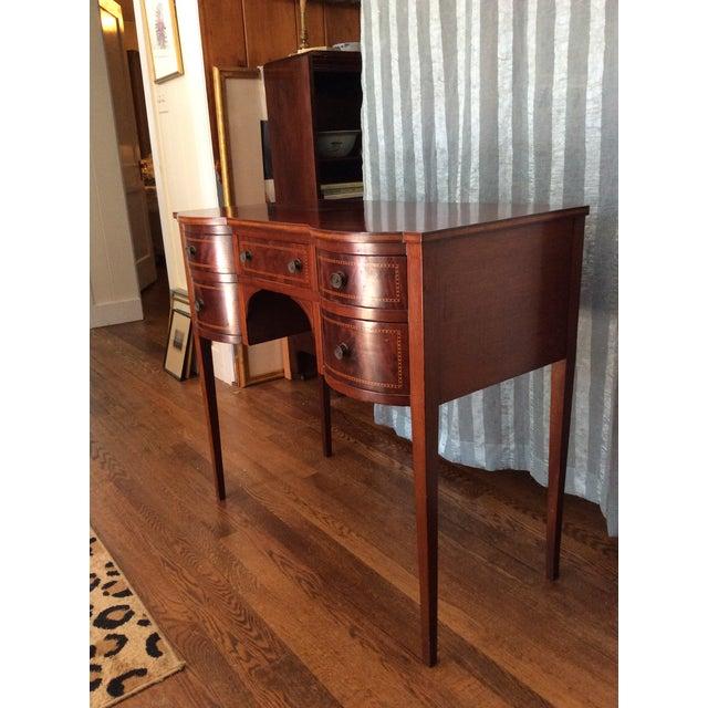 Hepplewhite Mahogany Inlay Desk For Sale - Image 12 of 13