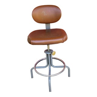 20th Century Industrial Drafting Stool For Sale